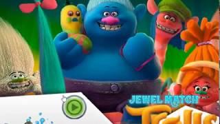 Мультик игра Тролли: Три в ряд (Trolls Jewel Match)