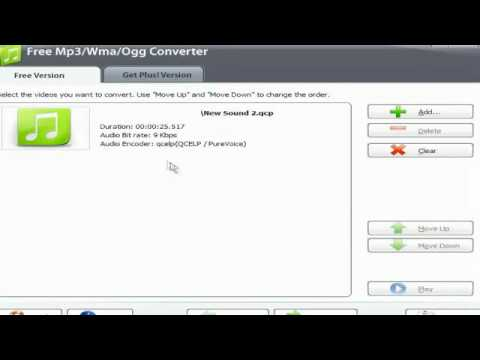 How to convert QCP files to Mp3
