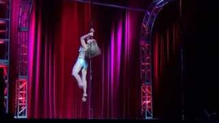 Mar Maheay Miss Texas Pole Star 2014 Masters Division Winner Dallas Pole Dance Competition