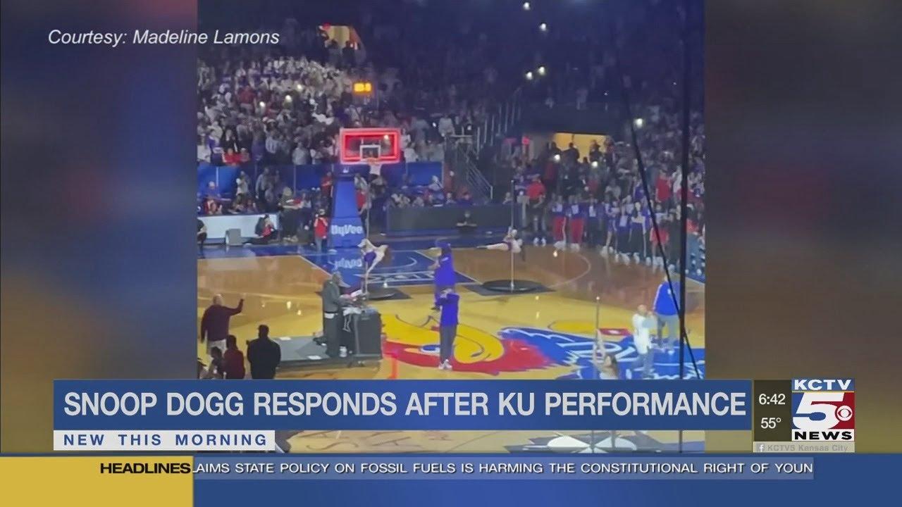 Snoop Dogg responds after backlash at KU performance - YouTube