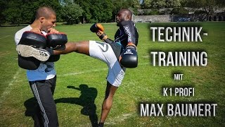 Techniktraining mit Profi K1 Fighter Max Baumert