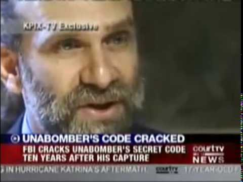 UnaBomber Secret Code Cracked after 10 years.