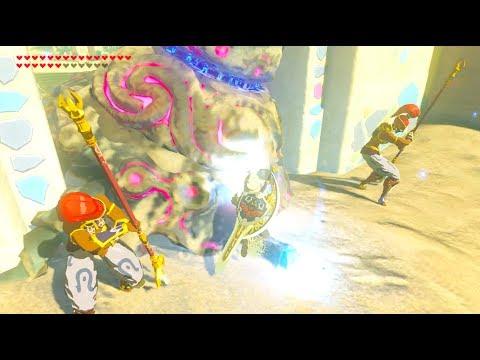 Zelda Breath of The Wild - Bring Guardian to Gerudo Town