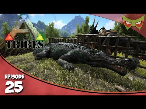 Ark: Tribes - Ep 25 - Taming A Sarco! - Let's Play On Pooping Evolved