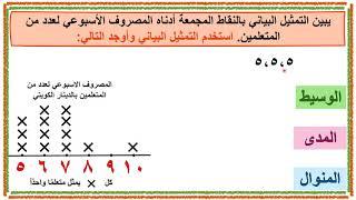 الرياضيات الصف الخامس الدرس 6 6 المدى الوسيط المنوال Youtube