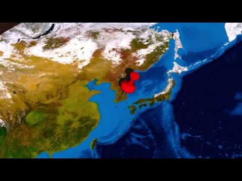 Videographics on anti-missile system, THAAD, in the Asia-Pacific region