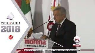 AMLO se registra para ir con Morena por la Presidencia