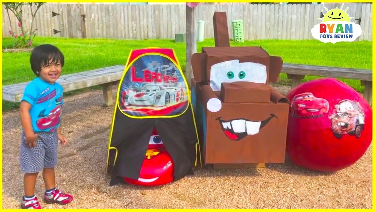 Lightning McQueen Giant Egg Surprise with Disney Cars Toys for kids