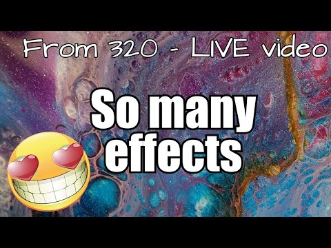 321- Resin Art / So many effects from 320 - LIVE video / Just Resin / Artisue