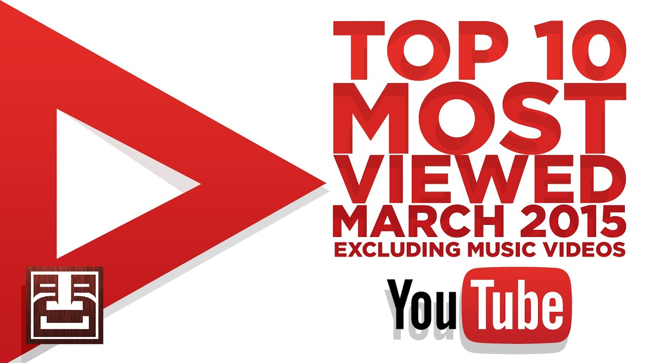 Top 10 most viewed videos EXCLUDING MUSIC VIDEOS on YouTube - March 2015
