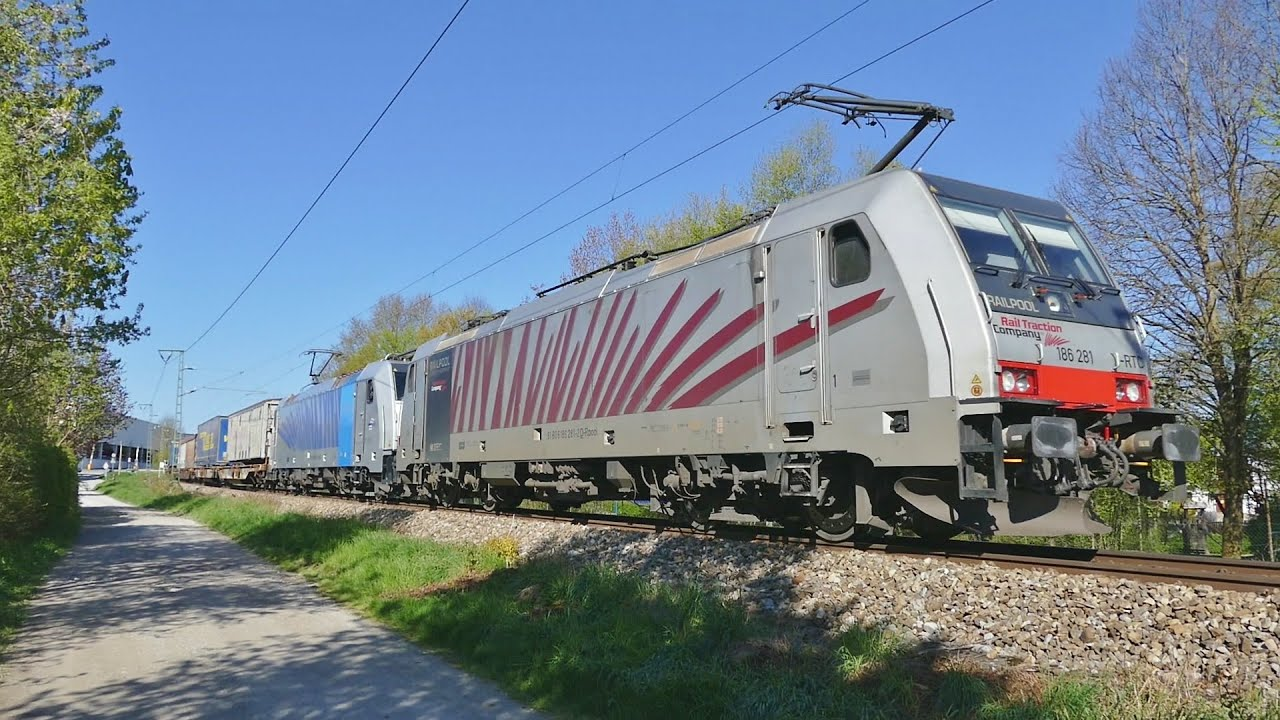 freight and passenger trains in holzkirchen - various locations ... - Holzkchen Modern