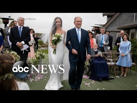 Intimate wedding ceremony for former first daughter Barbara Bush