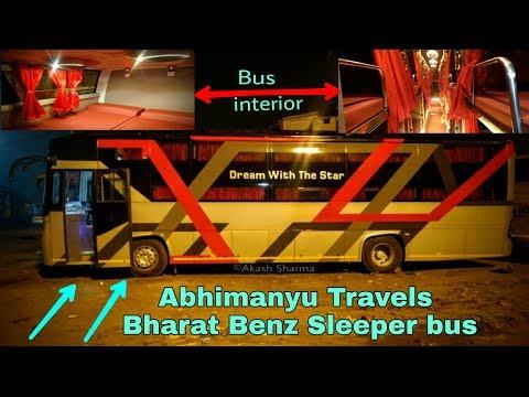 Abhimanyu Travels Bharat Benz Sleeper bus || Delhi to Lucknow || India's Luxury buses