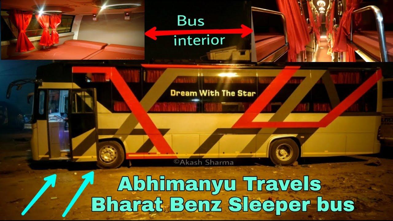 Abhimanyu Travels Bharat Benz Sleeper Bus Delhi To