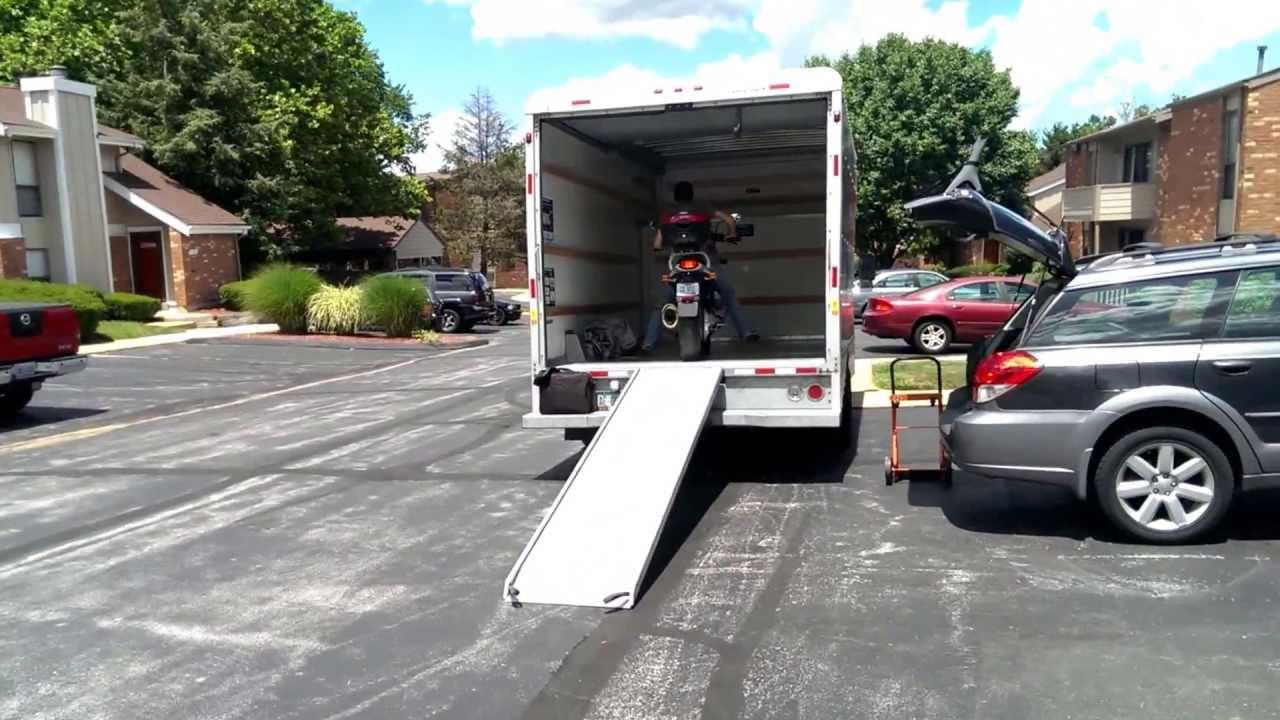 Iago Drives A Motorcycle Into A U Haul Youtube
