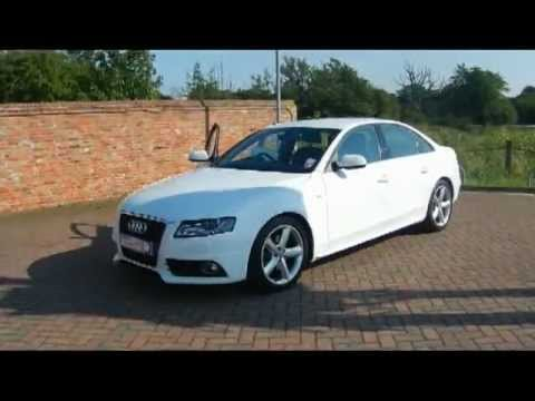 2009 audi a4 s line 2 0tdi saloon white for sale in hampshire youtube. Black Bedroom Furniture Sets. Home Design Ideas
