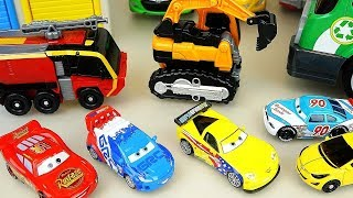 Cars and Carbot Poli car toys surprise eggs carrier and station play