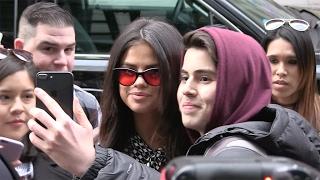 Selena Gomez arrives at her hotel in New York