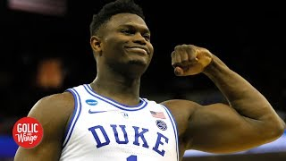 How did Zion wind up playing basketball instead of football? | Golic and Wingo