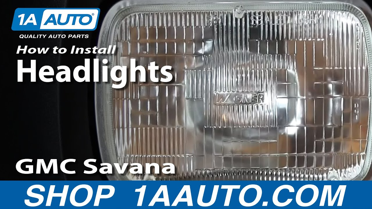 How To Replace Install Halogen Sealed Beam Headlights Chevy Express     How To Replace Install Halogen Sealed Beam Headlights Chevy Express GMC  Savana   YouTube