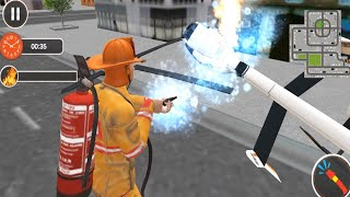 Fire Fighter Truck Real City Heroes Gameplay Walkthrough - Drive Fire Fighter Truck Android