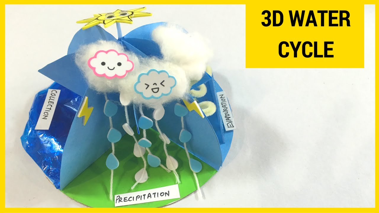 how to make a 3d water cycle model youtube percolation water cycle water cycle diagram unlabeled [ 1280 x 720 Pixel ]