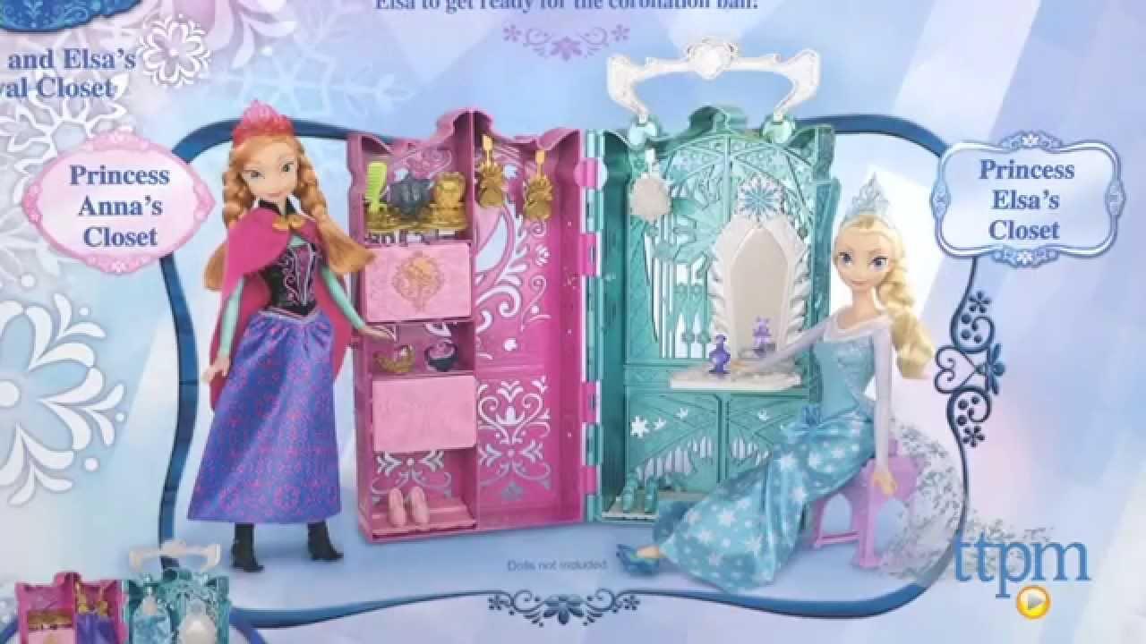 Disney Frozen Anna And Elsau0027s Royal Closet From Mattel