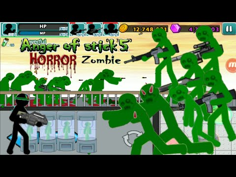 Horror Zombie level 58 | anger of stick 5 Android Gameplay 1080p60HD