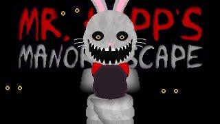 *TERRIFYING NEW GAME* HUNTED BY MR HOPP THROUGH HIS NEW MANOR. - Mr. Hopp's Manor Escape (ENDING)