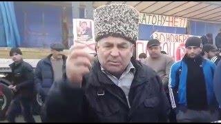 Дагенстанский дальнобойщик выступает против Путина