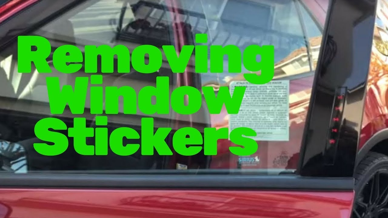 Removing window stickers risk management