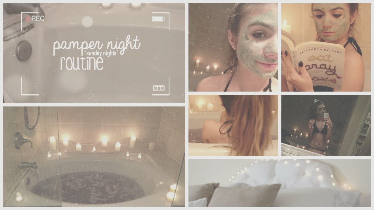 Pamper Night Routine ♡ - YouTube