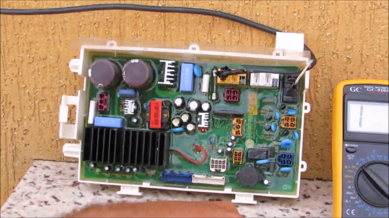 166  HOW TO TEST MAIN BOARD WASHER AND DRYER LG  YouTube