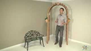Arboria Harvest 7-ft Cedar Arbor - Product Review Video