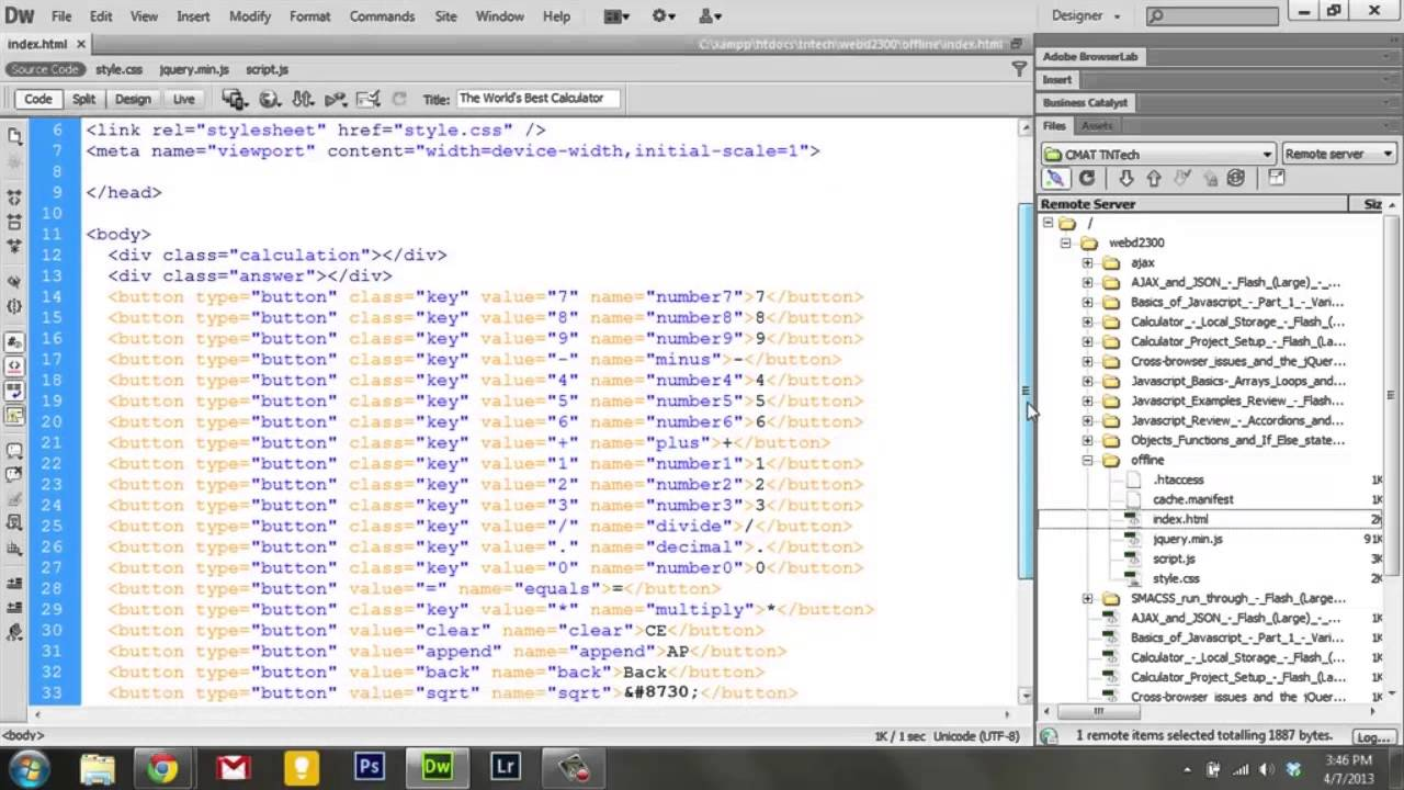 Learning Javascript - 10  Calculator Offline