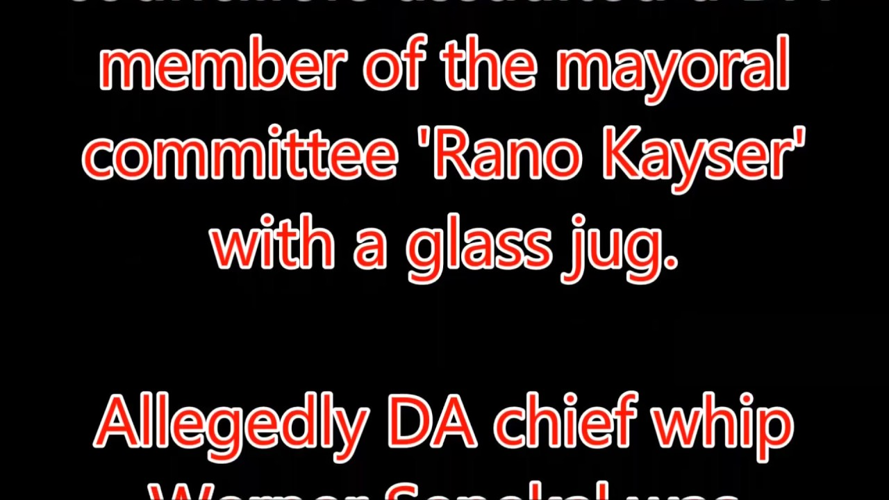South Africa: ANC Councillors attack DA council leaders during a Nelson Mandela Bay council sitting!