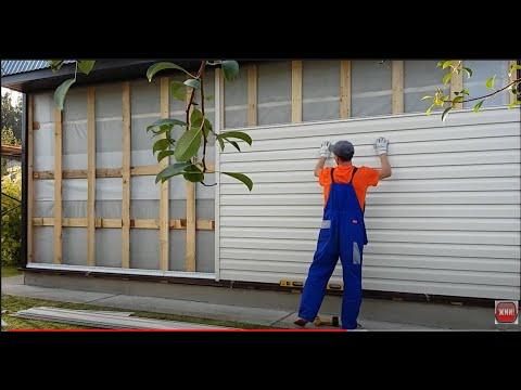 Установка винилового сайдинга своими руками видео