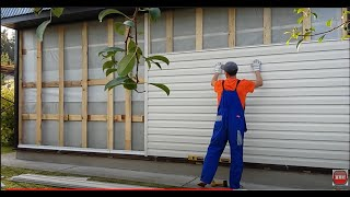 видео Отделка, обшивка стен дома виниловым сайдингом