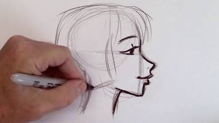 How to Draw a Modern Woman Character - An Introduction to Drawing People - Narrated