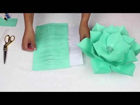 Paper Flower Tutorial | Template 18