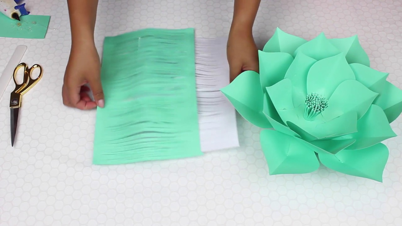 Paper flower tutorial template 18 youtube paper flower tutorial template 18 mightylinksfo