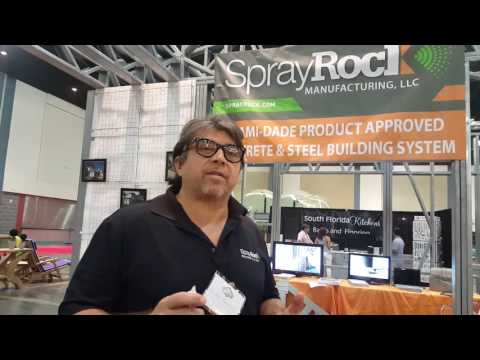 SprayRock Building Systems at Home and Design Show West Palm Beach