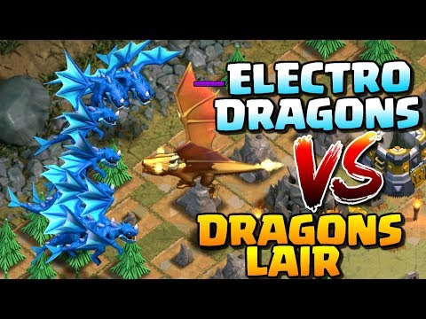 DRAGON'S LAIR vs ELECTRO DRAGONS! Clash of Clans Update Gameplay - GIANT DRAGON Boss Troop in CoC!
