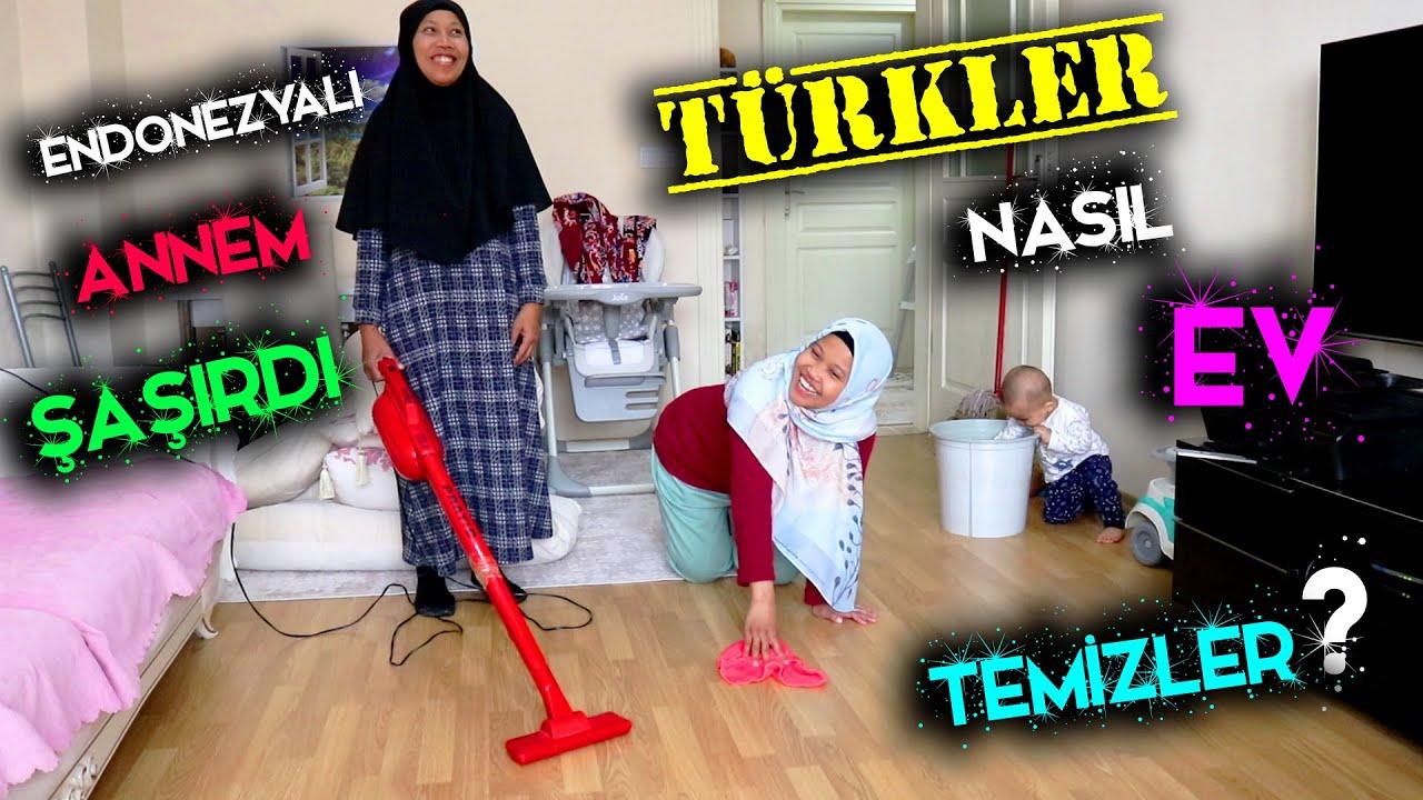 ANNEMLE BAYRAM TEMİZLİĞİ YAPTIK!!! TÜRKLER NASIL EV TEMİZLER ANNEME GÖSTERDİM!!!