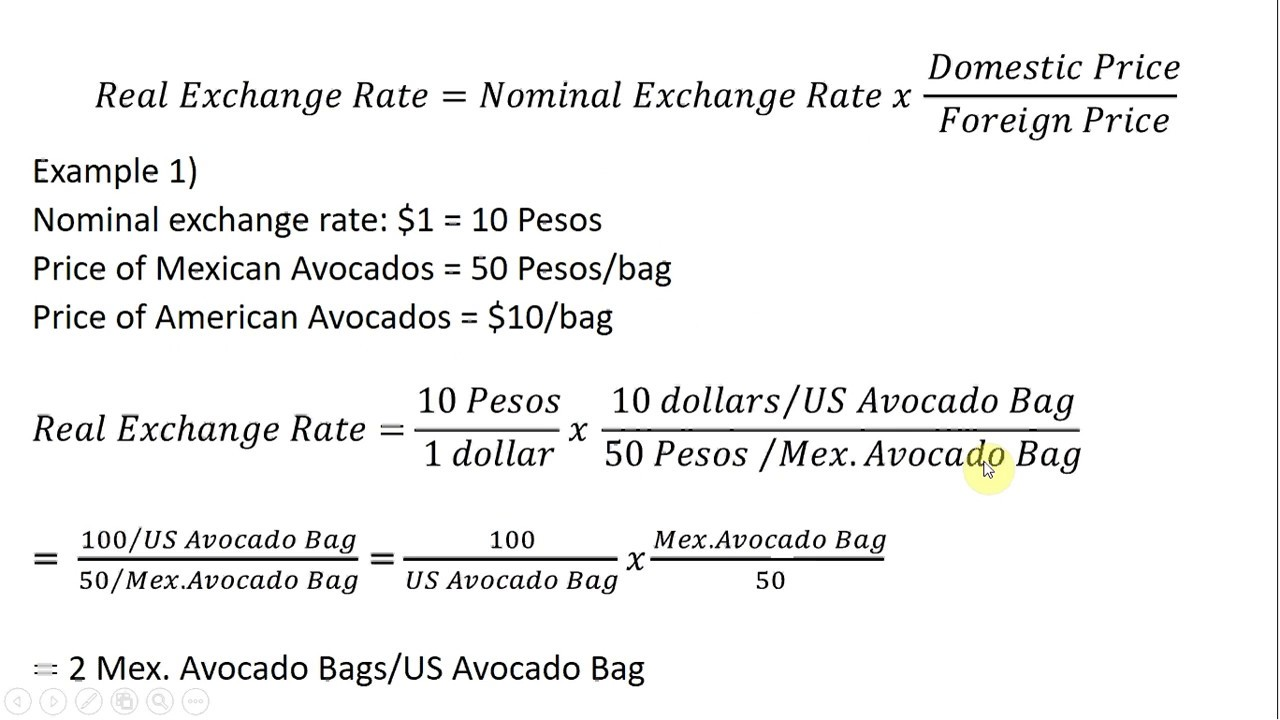 How To Calculate The Real Exchange Rate