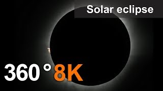 360°, Solar eclipse on Tidore Island, 8K video thumbnail