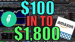 $150 to $1800 In ONE HOUR Trading Amazon Stock Options – YOLO Weekly Options Trading