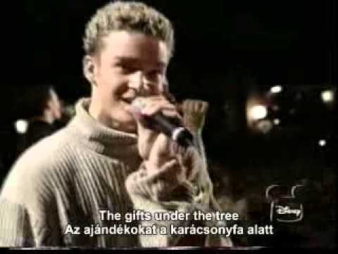 N sync Merry christmas Happy holidays live with english lyrics ...