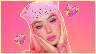 ♡ VALENTINES DAY HEART FRECKLES MAKEUP TUTORIAL ♡