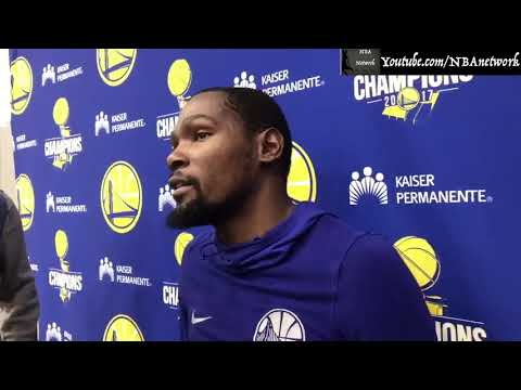 Kevin Durant is Excited to see his first Championship ring!